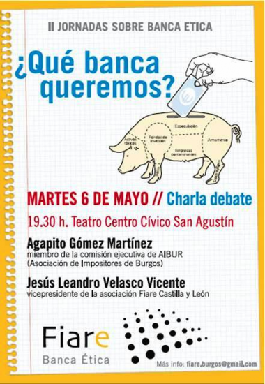 Charla Banca Etica Burgos el día 6